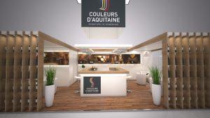 Stand Couleurs d'Aquitaine 3D
