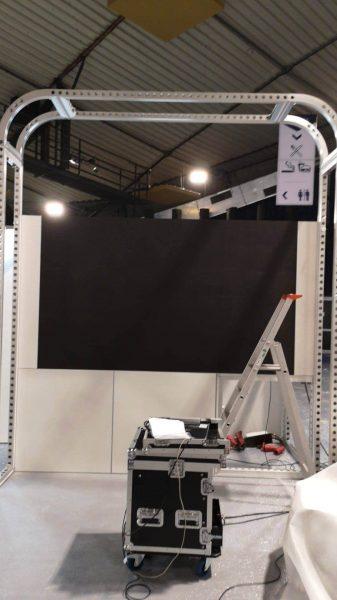 installation des écrans LEDSkin